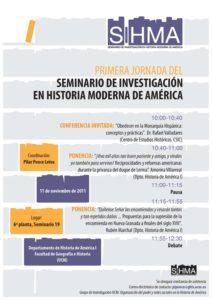 Cartel informativo del primer taller del SIHMA