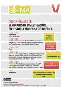 Cartel informativo del quinto taller del SIHMA