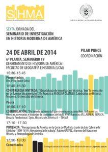 Cartel informativo del sexto taller del sihma